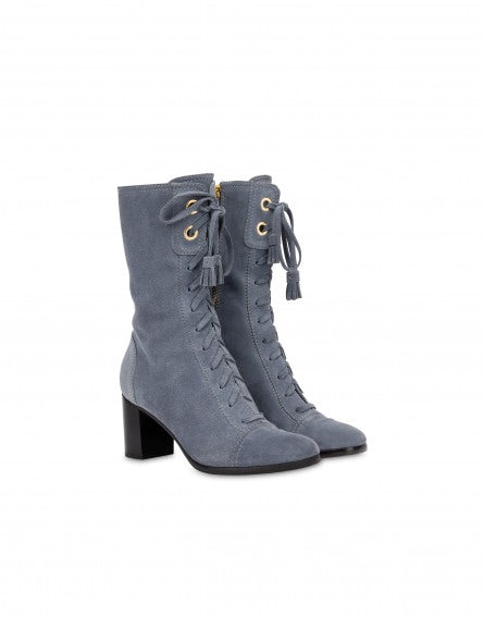 Lace Up suede ankle boots