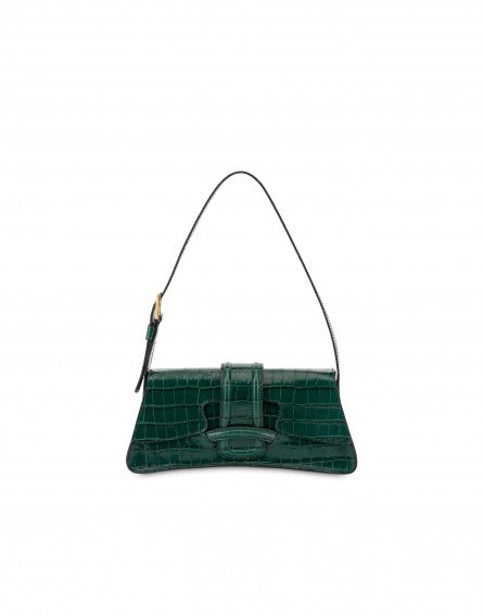 AF Trapeze Bag with crocodile print