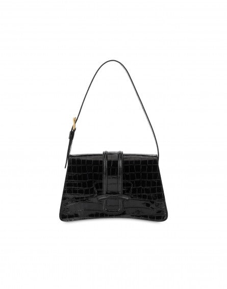 AF Trapeze handbag with crocodile print