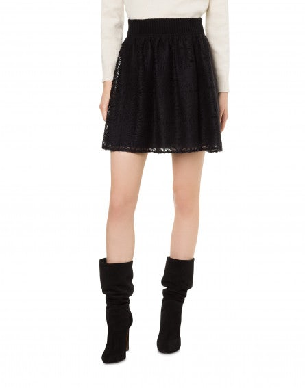 Back To Winter black mini skirt