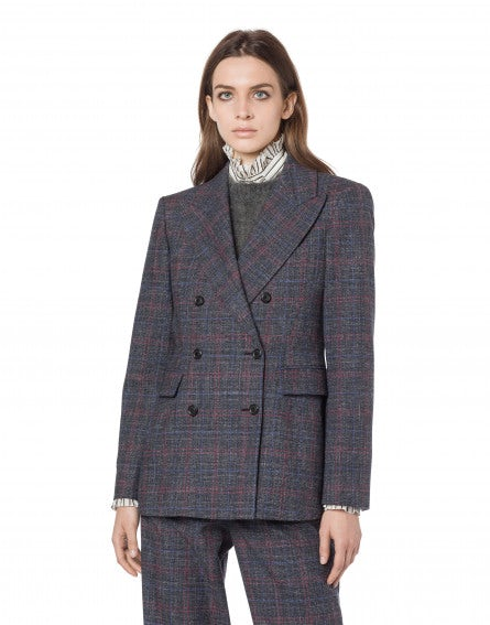 Double-breasted Prince of Wales jacket