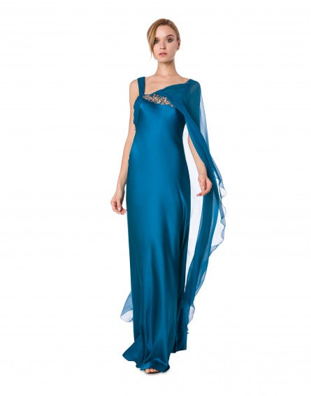 Satin evening dress
