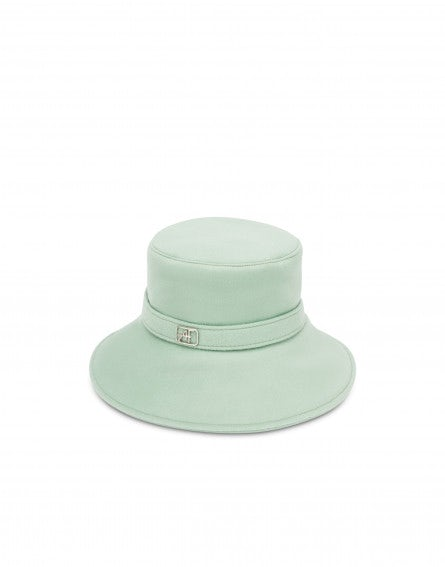 Sombrero bucket en tela color dusty green