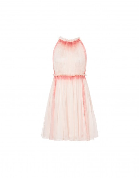 Sorbet Sky Dye chiffon mini dress