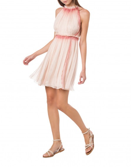Minidress in chiffon Sorbet Sky Dye
