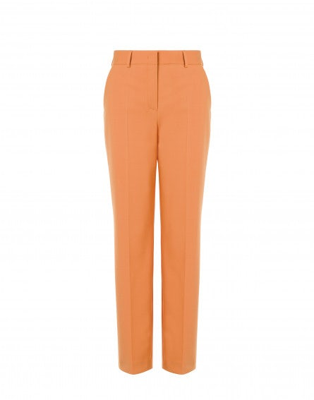 Stretch wool gabardine pants