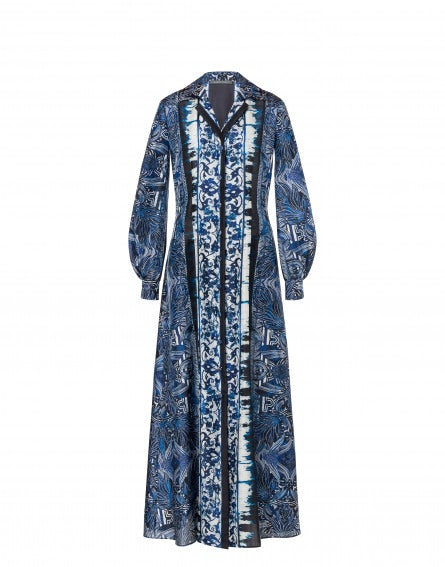 Rhapsody In Ble Habutai shirt dress