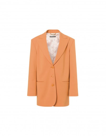 Stretch wool gabardine jacket