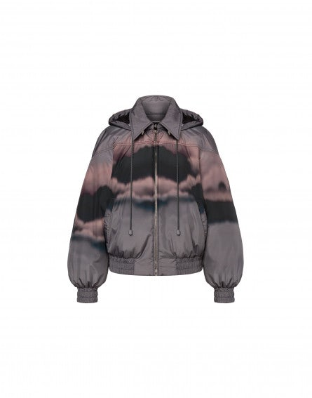 Cloudy Sky Athleisure down jacket