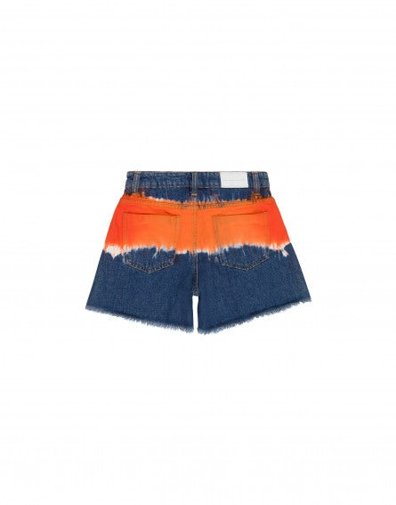 Tie Dye denim Junior shorts