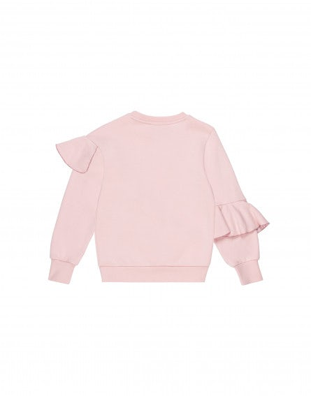 Junior cotton sweatshirt with ruffles