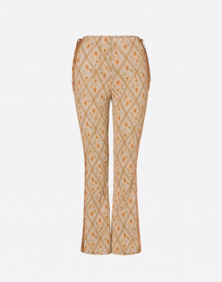 Hibiscus Cage cropped trousers