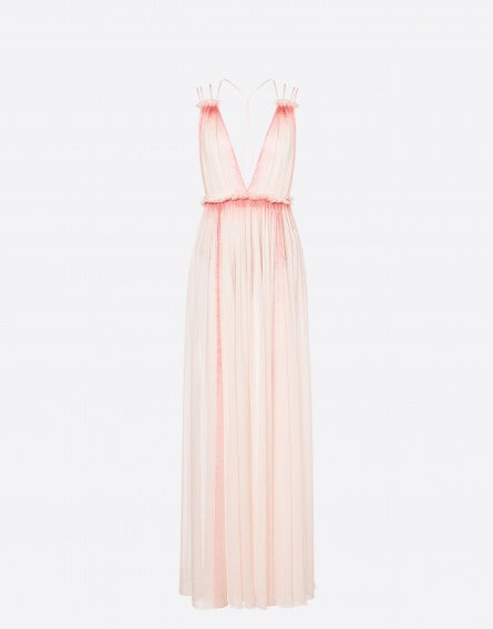 Sorbet Sky Dye chiffon dress