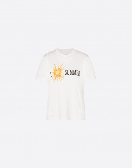 I Love Summer Tie Dye cropped T-shirt