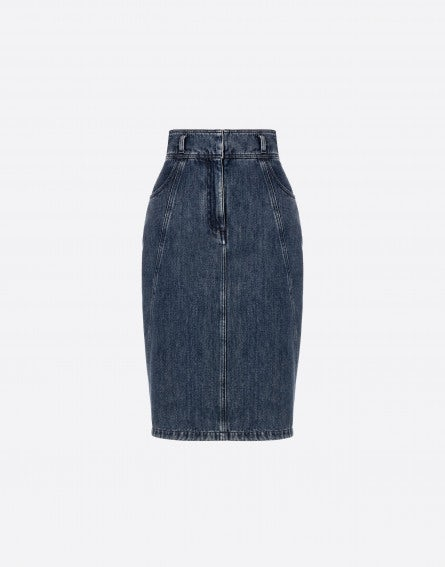 Soft Marble denim skirt