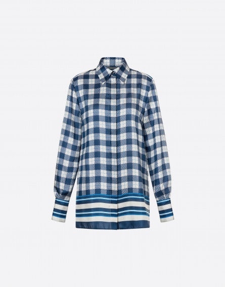 Stripes & Checks habotai shirt