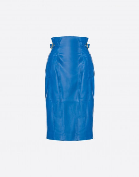 Pencil skirt in nappa leather