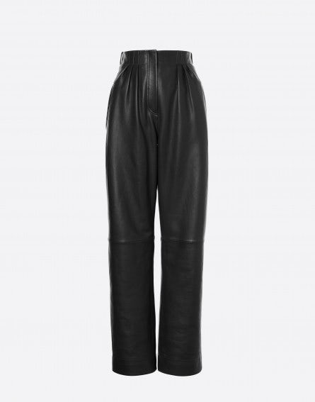 Nappa leather trousers