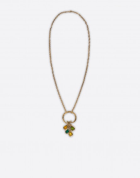 Necklace with multicolour crystals
