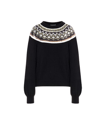 Back To Winter sequin sweater