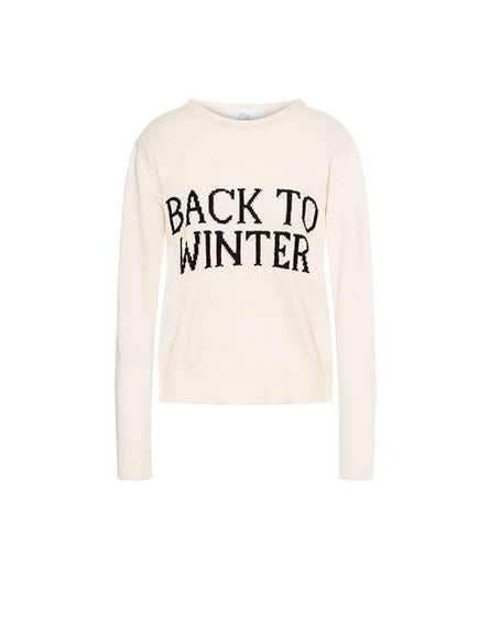 Back To Winter ivory sweater