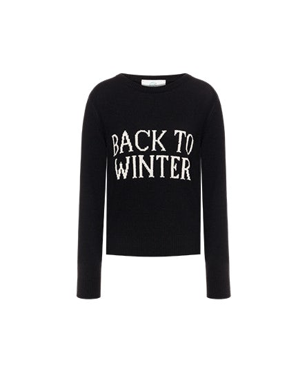 Back To Winter black sweater