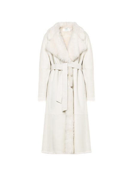 Back To Winter long reversible sheepskin coat
