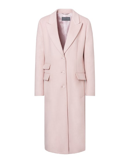 Coat in pink cloth