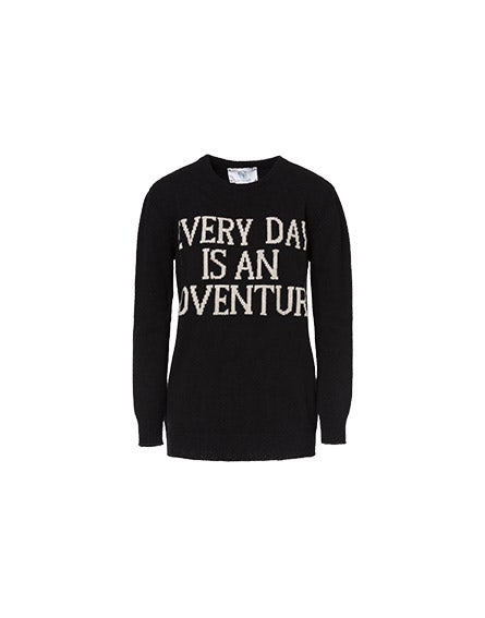 Everyday Is An Adventure black pullover