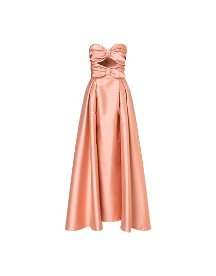 Mikado dress with bows