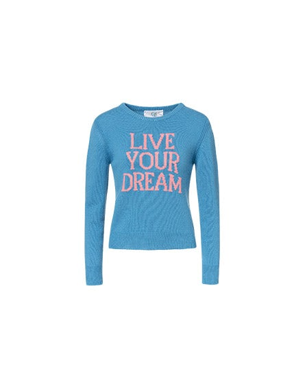 Live Your Dream cornflower blue pullover
