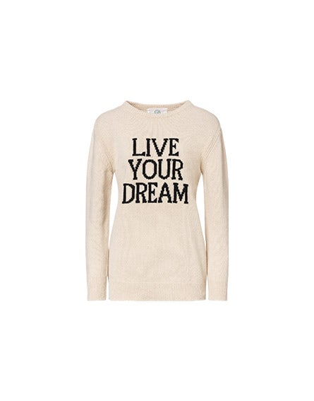 Pullover Live Your Dream beige