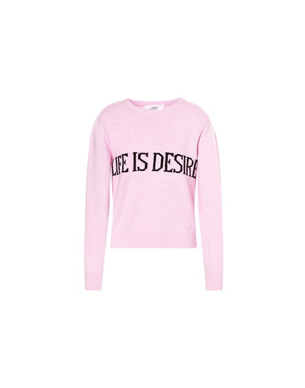 Life Is Desire pink sweater