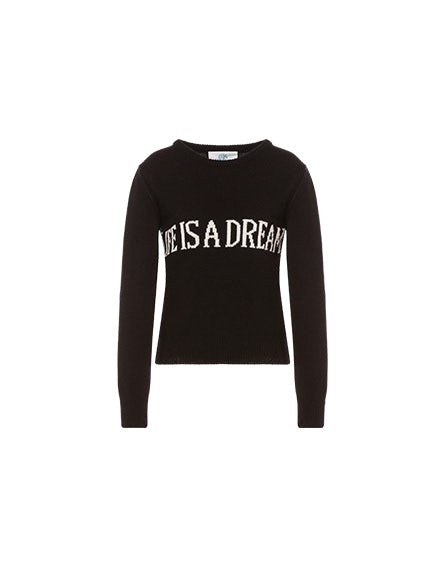 Life Is A Dream black sweater