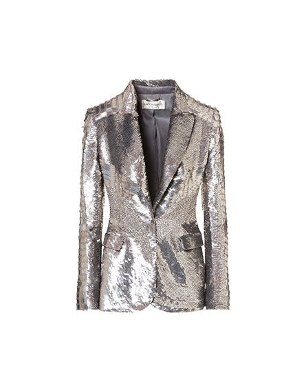 Satin jacket with sequins