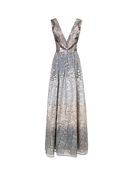 Fil coupé dress with sequins