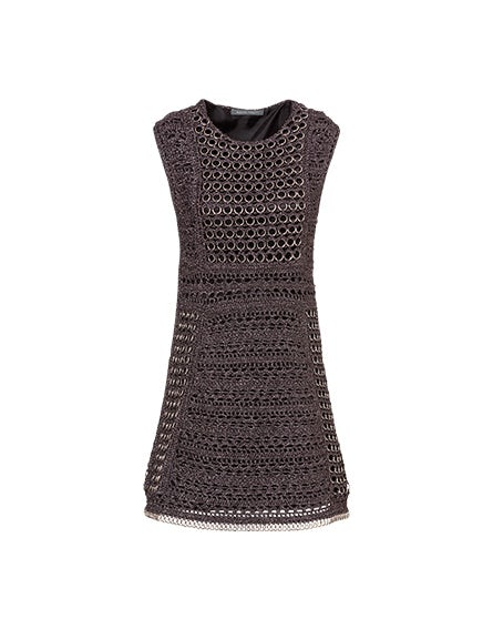 Crocheted lurex minidress