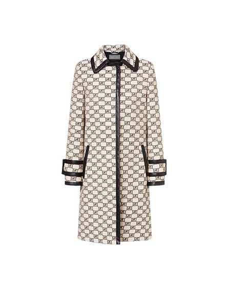 Story Logo coat in jacquard