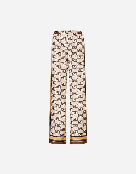Story Logo trousers in silk twill