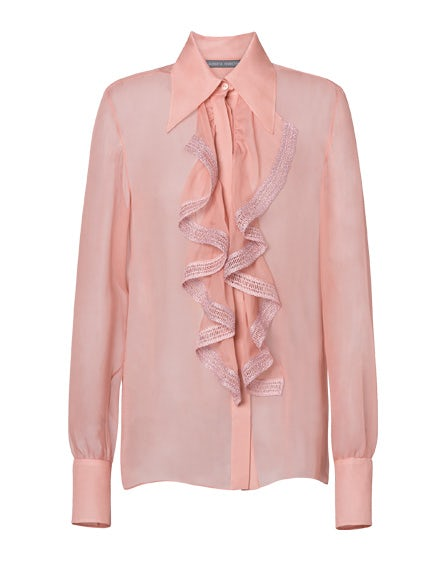 Chiffon blouse with frills