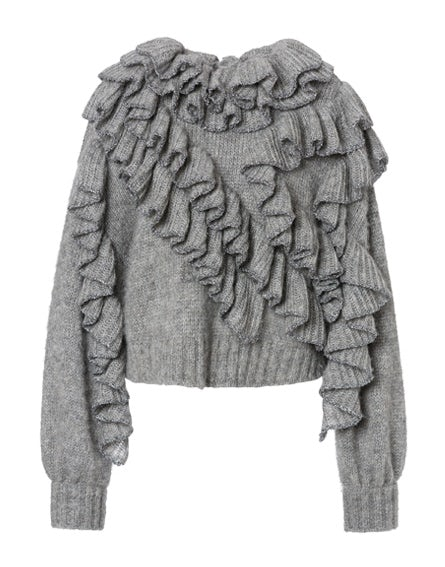 Superkid mohair sweater with frills