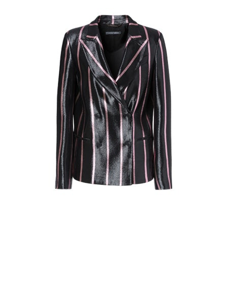 Striped jacket in lurex