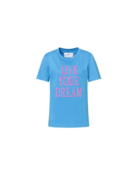 Camiseta Live Your Dream azul eléctrico