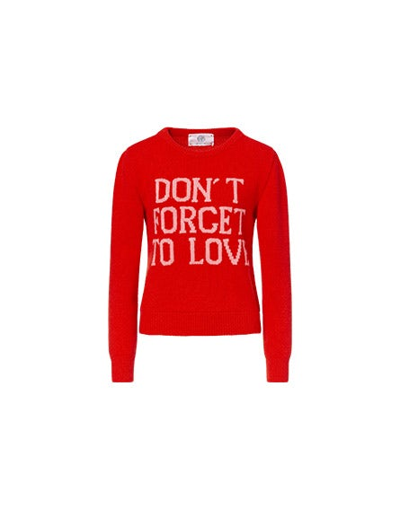 Don't Forget To Love red pullover