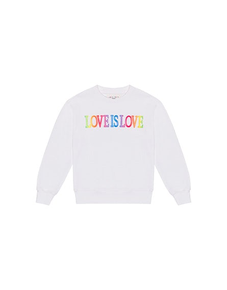 Junior Love Is Love sweatshirt with round neck