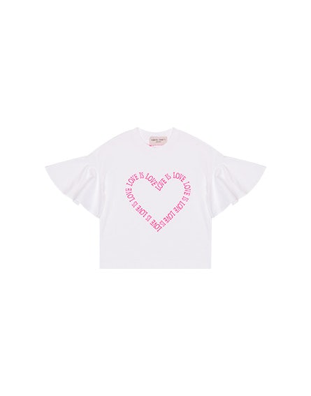 Junior Love Is Love T-shirt with heart