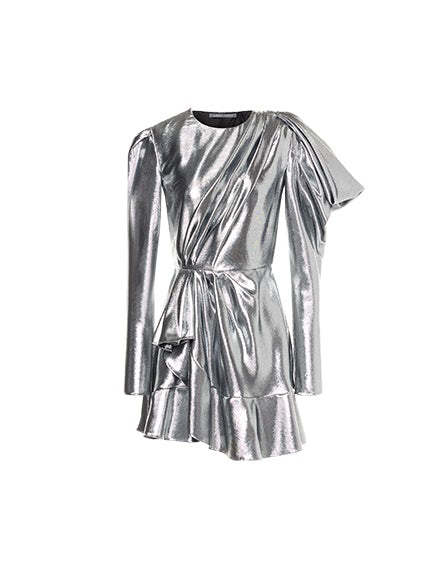 Silver lamé minidress